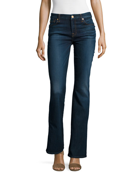 7 For All Mankind Tailorless Kimmie Boot-Cut Jeans, Tried & True Blue ...