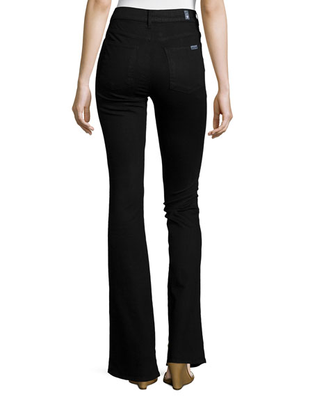 7 For All Mankind Fashion Flare High-Waist Jeans, Overdye Black