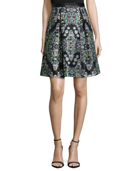Resplendent Crystal-Print Skirt