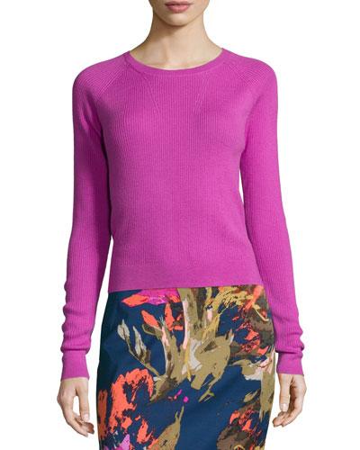 Trina Turk Jovi Long-Sleeve Crewneck Sweater