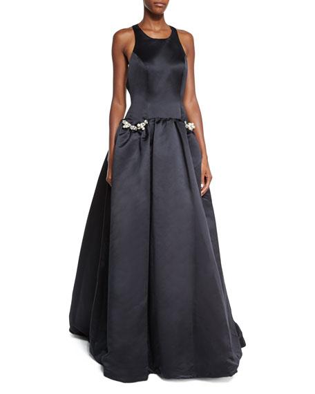 Jovani Sleeveless Ball Gown W/ Jeweled Pockets