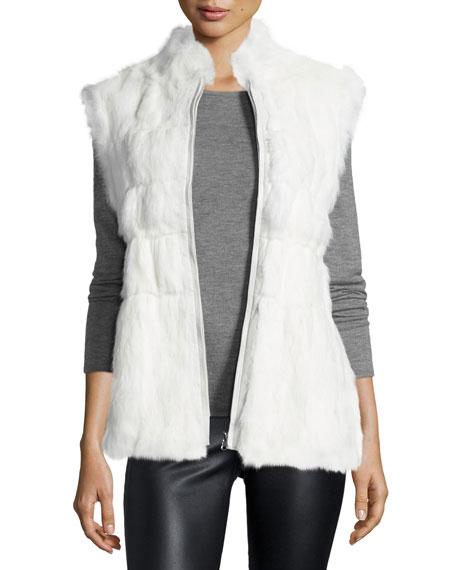 Cusp by Neiman Marcus Reversible Zip-Front Fur Vest,