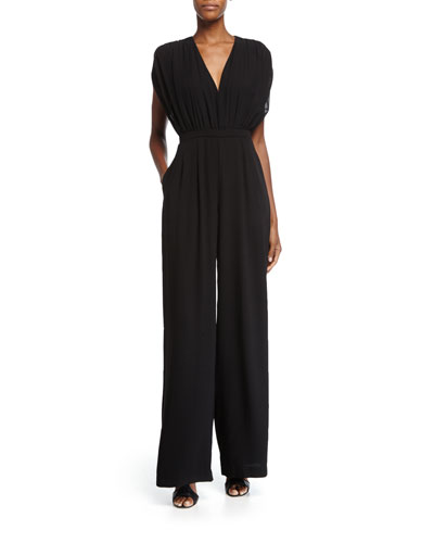 Camilla and Marc Cap-Sleeve Flowy Wide-Leg Jumpsuit