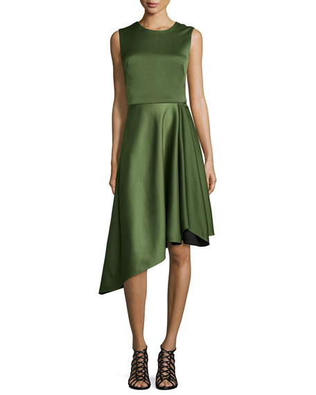 Camilla and Marc Sleeveless Asymmetric Cocktail Dress
