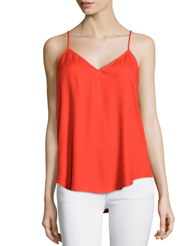 Caged-Back Camisole, Tiger Lily