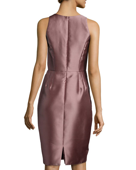 Side-Peplum Sleeveless Cocktail Dress