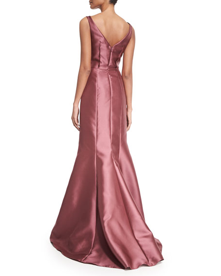 Sleeveless Peplum Ball Gown