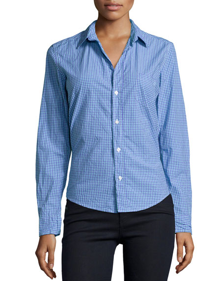 Frank & Eileen Barry Long-Sleeve Check Poplin Shirt,
