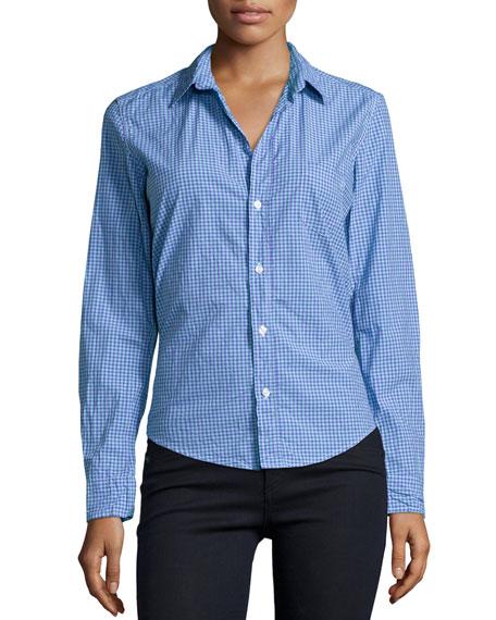 Frank & Eileen Barry Long-Sleeve Check Poplin Shirt,