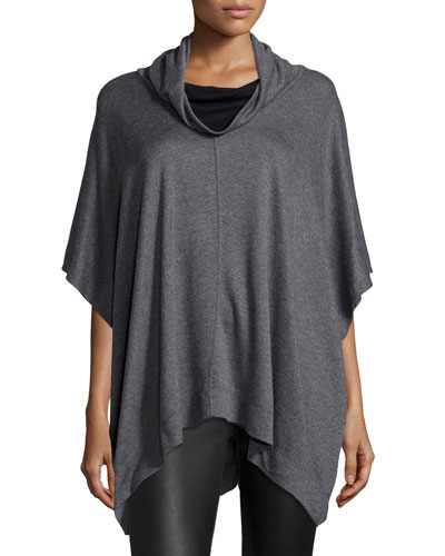Funnel-Neck Jersey Poncho
