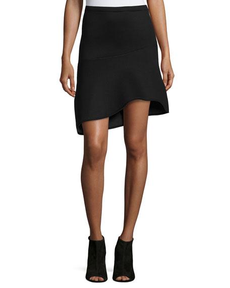Three Dots Asymmetric Fit & Flare Skirt