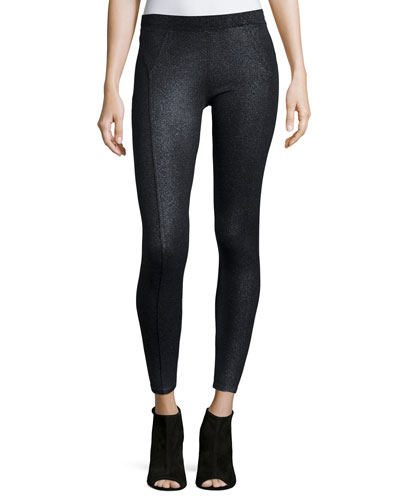 Shimmer-Coated Ponte Leggings
