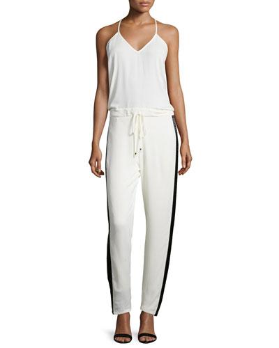 Ginger Slim-Leg Jumpsuit, Ivory