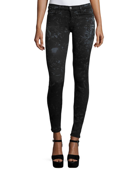 J Brand Jeans Mid-Rise Super-Skinny Jeans, Shattered Glass