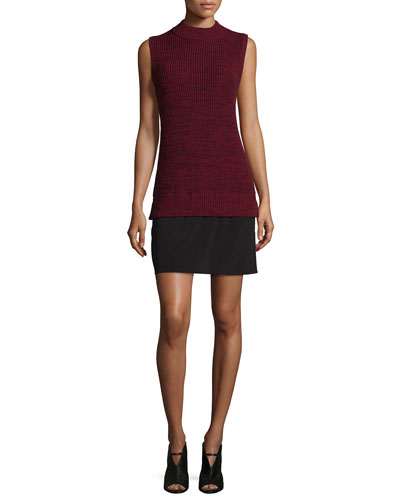 Hendy Knits Sleeveless Dress, Runaway Red/Black