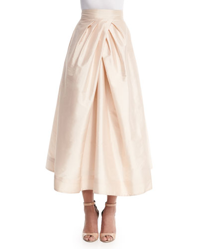 Tea-Length Taffeta Skirt