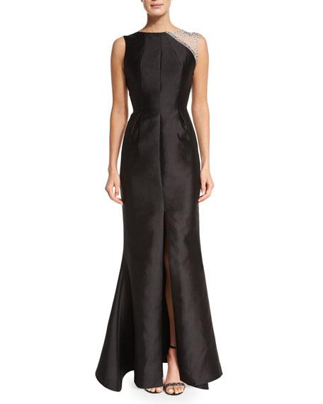 Rachel Gilbert Tijana Embellished Mermaid Gown, Black