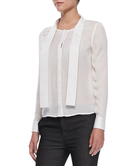 J Brand Ready to Wear Ntalya Long-Sleeve Blouse