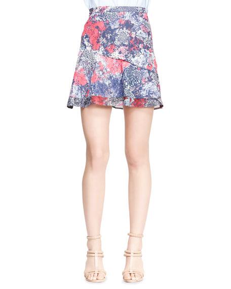 Nonoo Printed Asymmetric Flare Skirt
