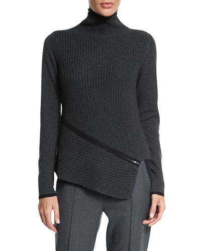Vienna Turtleneck Asymmetric Sweater