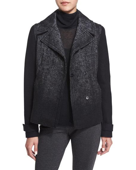 Kiana Woven Snap-Front Coat