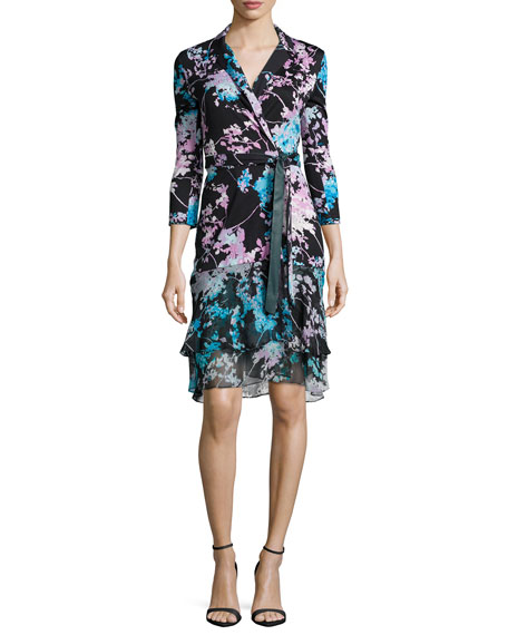 Diane von Furstenberg Cathy Floral Daze Wrap Dress