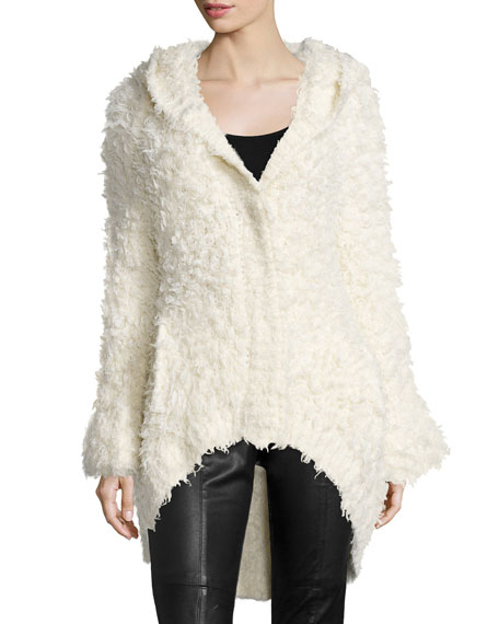 Cozy Cardigan with Hood, Ivory