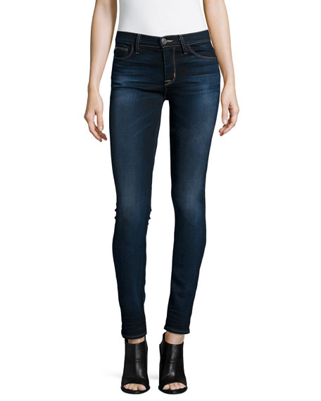 Hudson Shine Mid-Rise Skinny Jeans, Crowbird