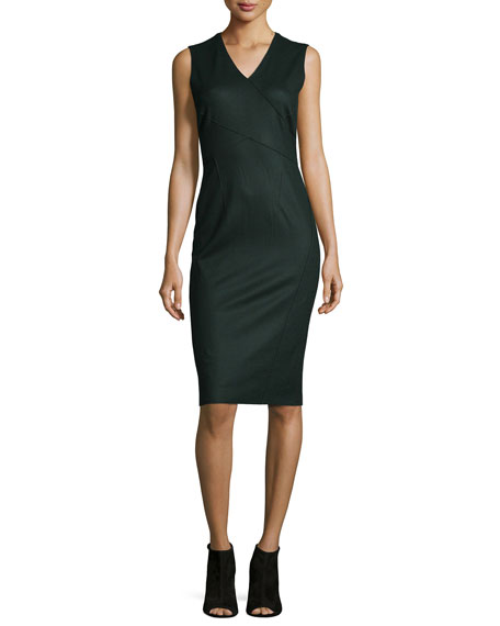 Elie Tahari Gigi Sleeveless Sheath Dress