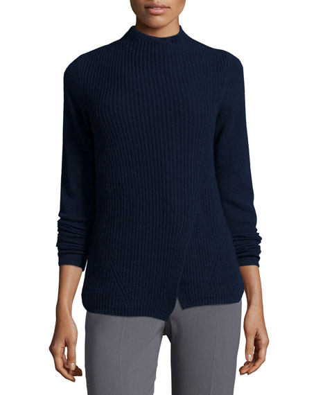 Elie Tahari Hadley Wool-Blend Mock-Neck Sweater