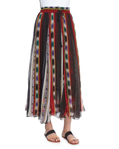 Mes Demoiselles Tiyi Striped Maxi Skirt, Stripes Print