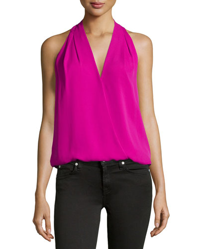 Naya Surplice Sleeveless Top
