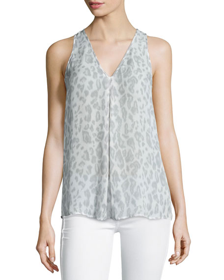 Surla Sleeveless Animal-Print Top