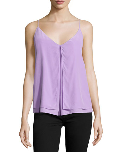 Otissa Sleeveless Silk Top