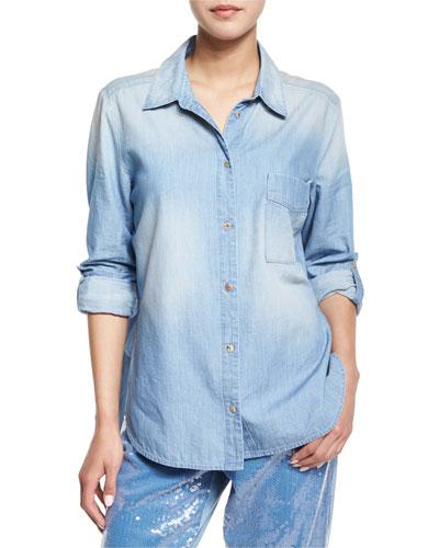 Concept Patch-Pocket Button-Front Shirt