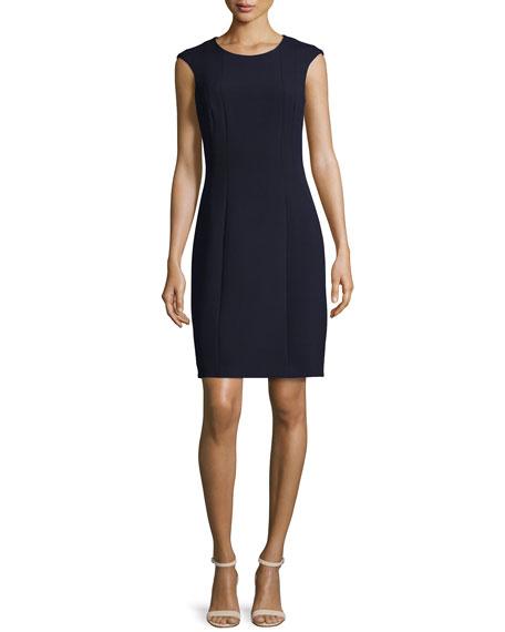 Peserico Cap-Sleeve Sheath Dress, Navy