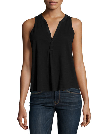 Carley V-Neck Sleeveless Top