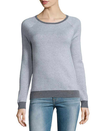 Bini Textured Crewneck Sweater
