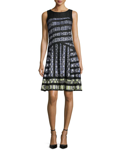 Crosswalk Twirl Fit-and-Flare Dress, Petite