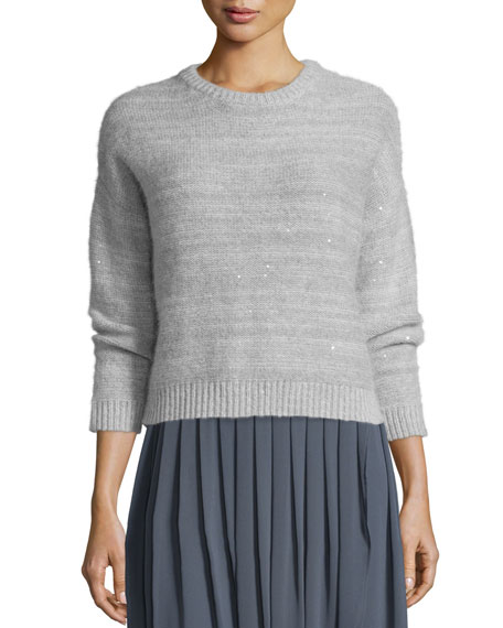 Peserico Crewneck Sweater with Sequins