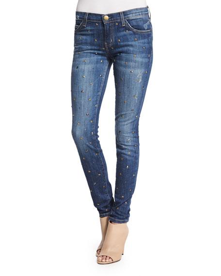Current/Elliott The Ankle Skinny Gold Standard Jeans, Blue