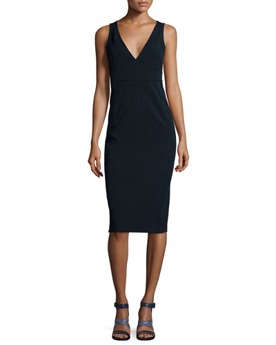 Parmida V-Neck Sheath Dress
