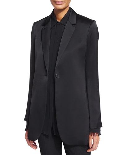 Dalingwood One-Button Splendor Jacket, Black