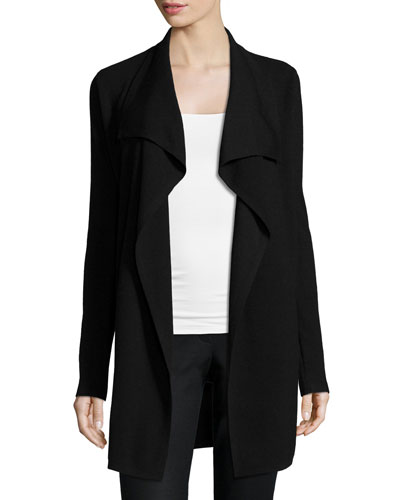 Trincy E. Draped-Front Cardigan