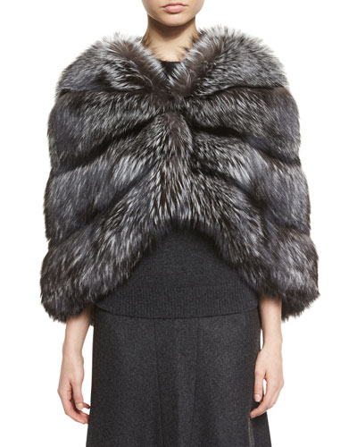 Fox Fur Cape, Silver