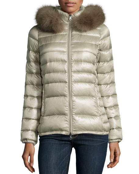 Duvetica Nefele Puffer W/ Fur-Trim-Hood