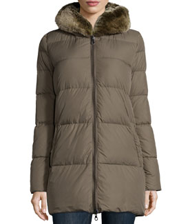 Arwen Puffer Jacket with Fur Hood
