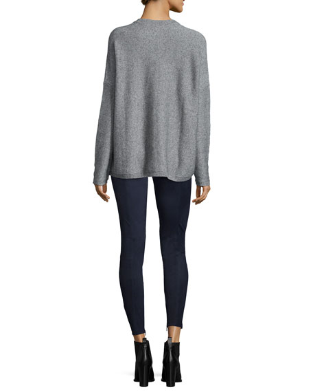 Textured Wool/Cashmere Crewneck Sweater