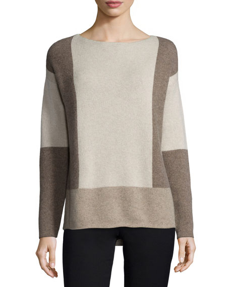 Vince Intarsia Colorblock Wool/Cashmere Sweater
