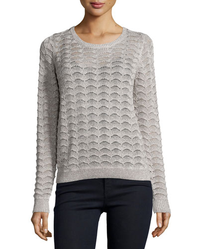 Bernie Long-Sleeve Sweater, Platinum